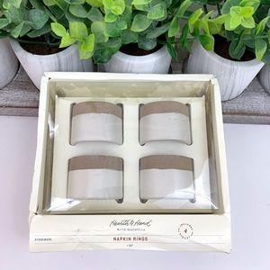 2/$20 Hearth & Hand NIB Stoneware Napkin Rings